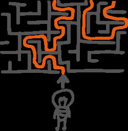 Fuer manche erwachsene Hochbegabte (Intelligenzquotient IQ von 130 oder mehr) stellt sich der Lebensweg wie das Umherirren in einem Labyrinth dar. Die Quantenspringer helfen, einen Weg durch das Labyrinth zu finden